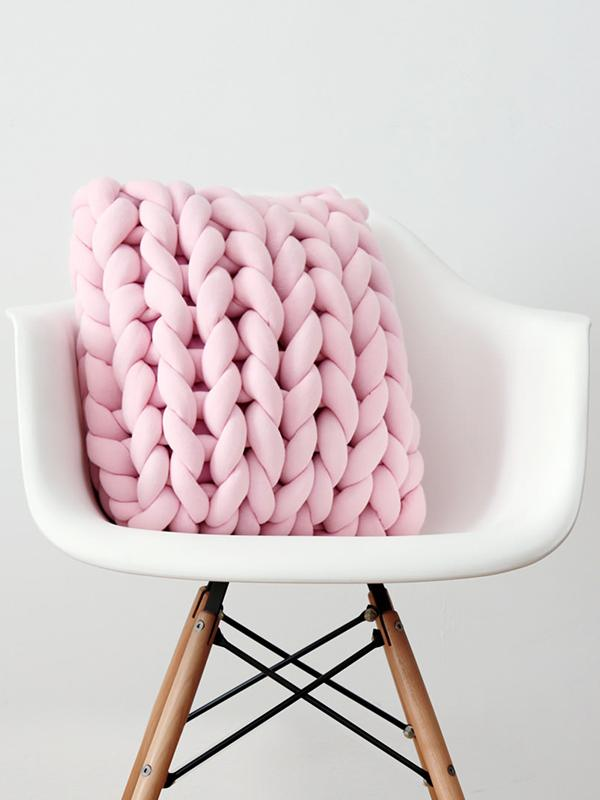 Cotton Yarns Manual Knitting Doughnuts Back Cushion Pillow