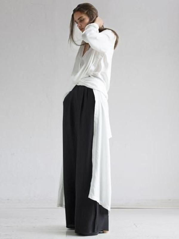 Loose Split-side Long Shirt