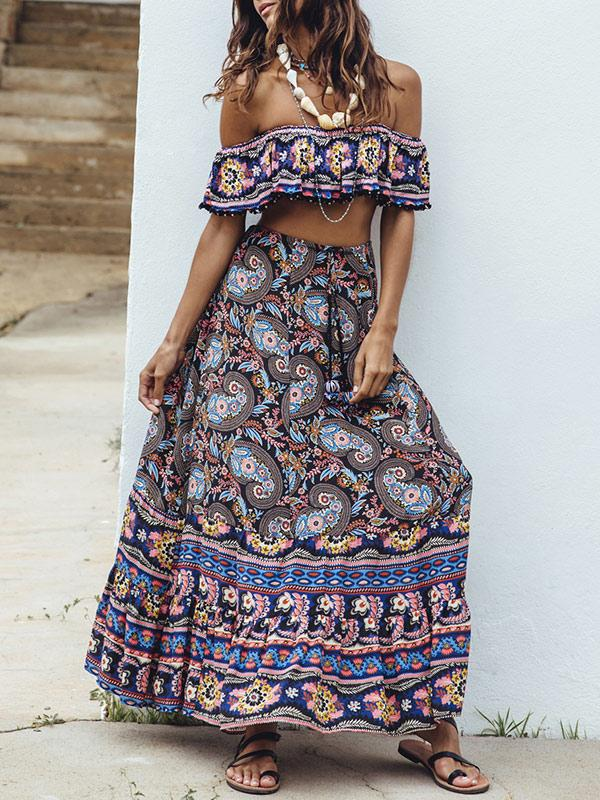Off-the-shoulder Bohemia Suits