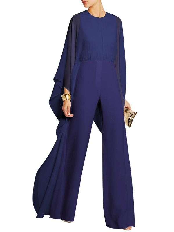 Wide-leg Pants Chiffon Spliced Jumpsuit