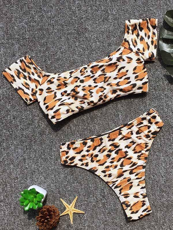 Leopard High Waist Bikinis Swimwear