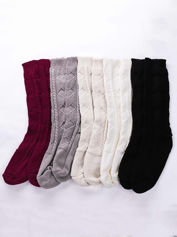 Knitting Solid Colors 5 Colors Stocking