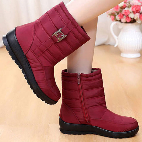 Snow Boots Women Waterproof Woman Shoes Women's Boots Thick Plush Warm Winter Waterproof Mother Shoes Ladies Ankle Boot