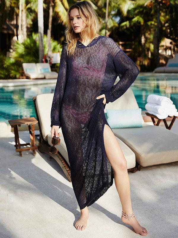 Hollow Sexy Knitting Beach Cover-up Swimwear