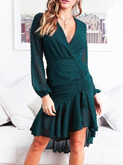 2 Colors Lace Mini Dress