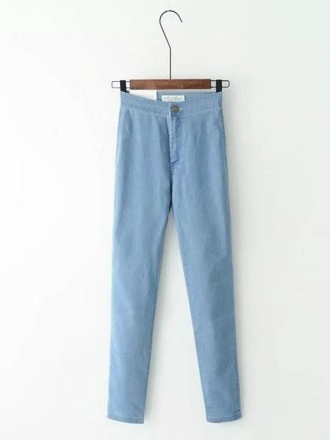 Chic High-Waist Stretchy Casual Skinny Leg Pants