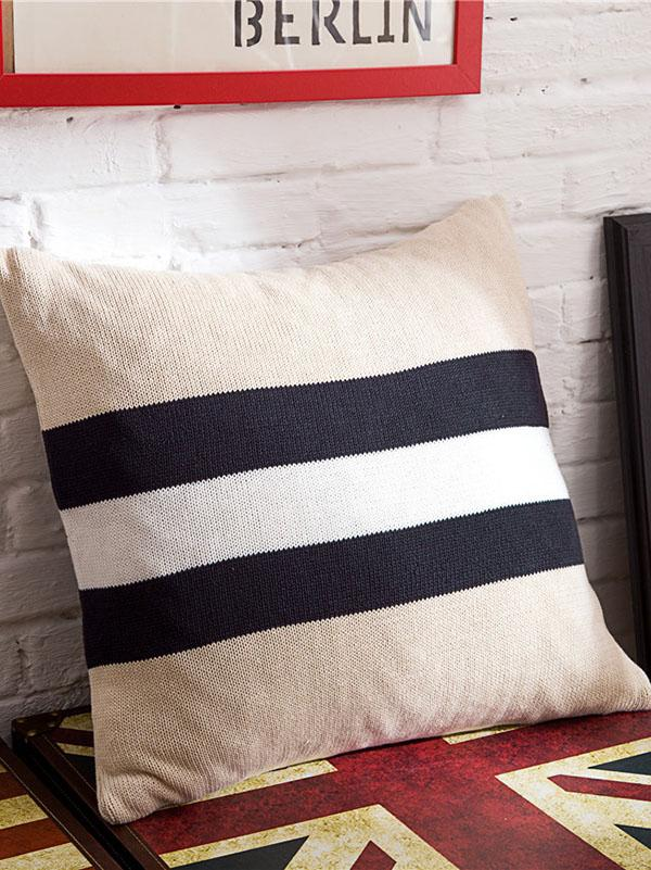 British Style Plaited Striped Pillow Case
