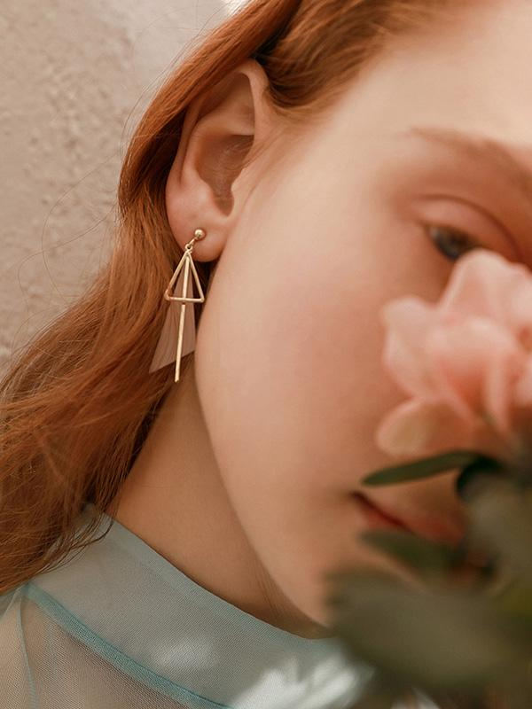 Normcore Geometry Triangle Earrings
