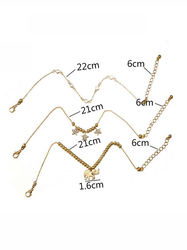 Beautiful Star&Elephant Pattern Footchain Accessories