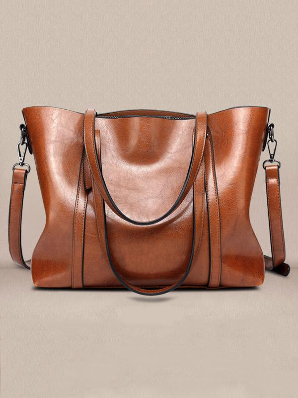 Fashion Solid Tote Bag