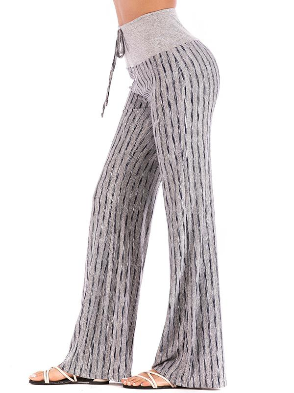 Striped 6 Colors Wide Leg Casual Pants