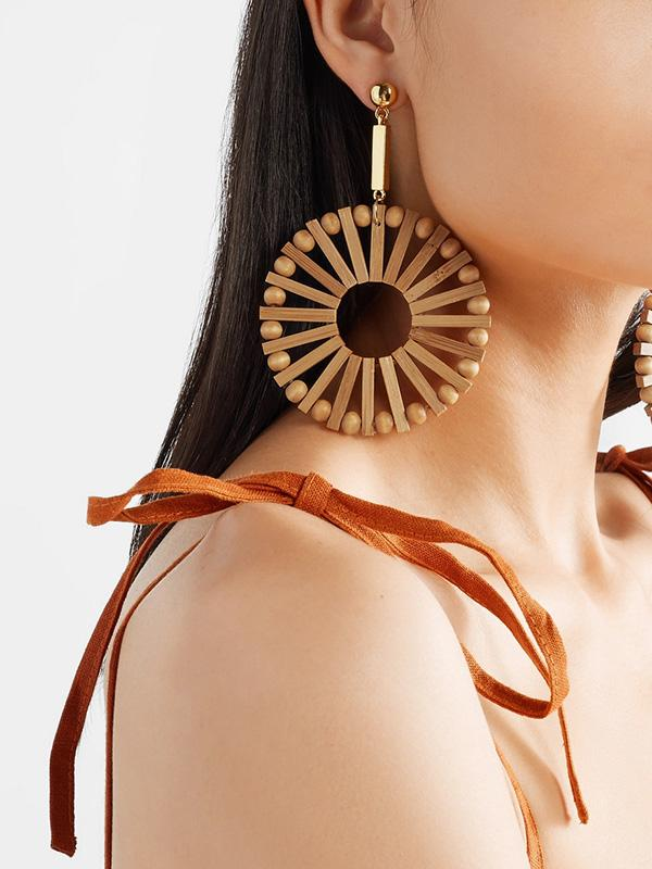 Hand-woven Bamboo Earring Accessories