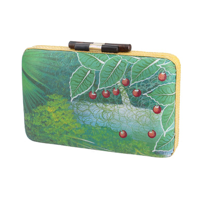 HAITI CLUTCH WITH LANDSCAPE PAINTING