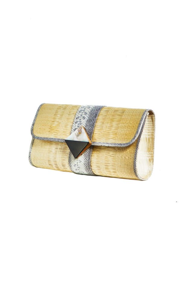 Raffia Rectangle Clutch
