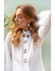 Linen Tunic Dress Shirt