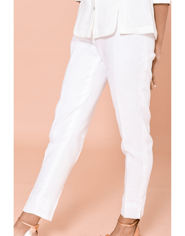 Signature High Waist Linen Pants