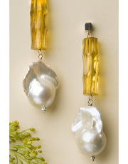 CETRO Baroque Pearl Earrings