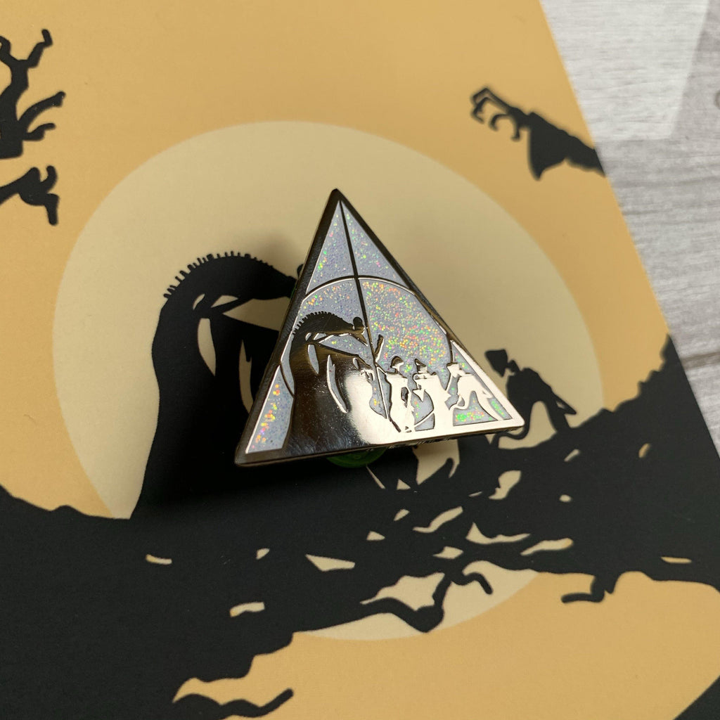 Glitter White deathly hallows - Lazy Creative