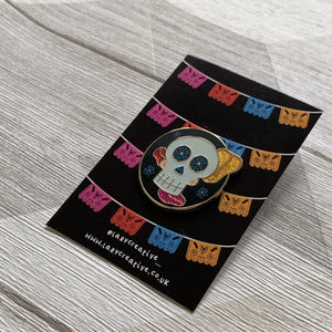 Glow in the Dark - Day Of the Dead Coco Pin - Lazy Creative