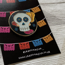 Load image into Gallery viewer, Glow in the Dark - Day Of the Dead Coco Pin - Lazy Creative