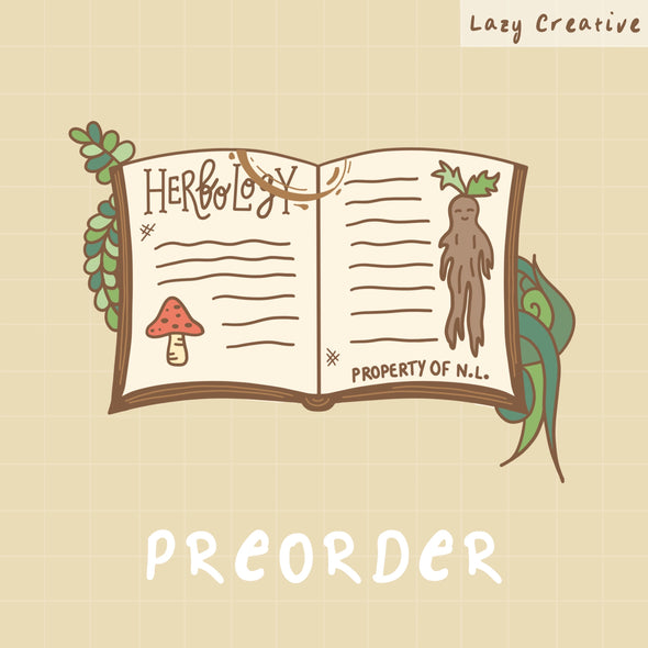 PREORDER - Herbology Notebook Pin