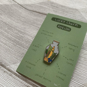 Lucky Charm Potion Pin - Lazy Creative