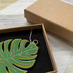 Monstera Leaf Necklace - Lazy Creative