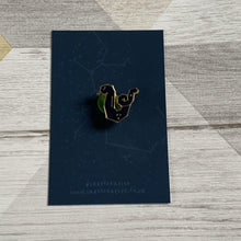 Load image into Gallery viewer, Slytherin Snake House Pin - Lazy Creative