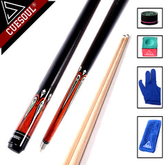 CUESOUL High Quality Maple Billiard Cues Shaft 13mm Tips 1/2 Split Pool Billiards Cue Stick 58 Inch