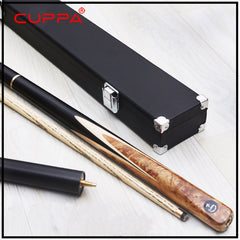 Cuppa Handmade Snooker Cues 3 4 Snooker Cue Case Set 9.8mm Tip Burl Wood Handle For Black 8