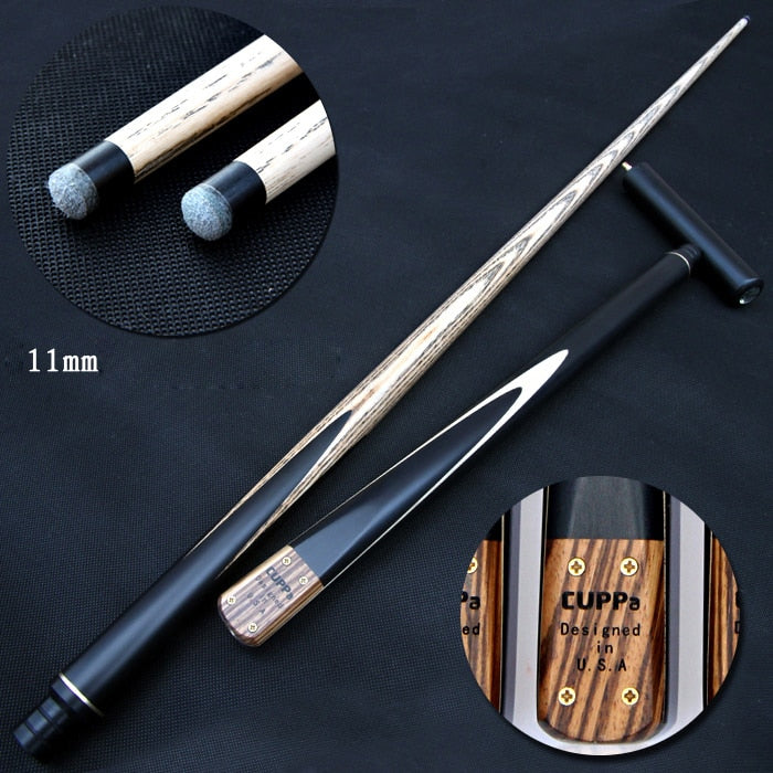 New Cuppa Snooker Cue 3/4 Snooker Cue Stick with Case 5A North America Ash Billiard Stick 11mm Tip Billiard Cues Snooker Stick