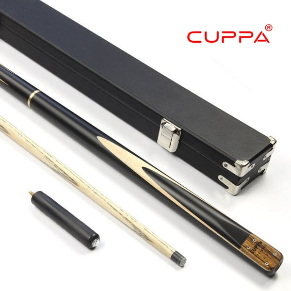 Excellent Handmade 3/4 Piece Cuppa16 Snooker Cue Kit Stick with a Case 5A North America Ash Billiard Stick Cue Snooker Stick