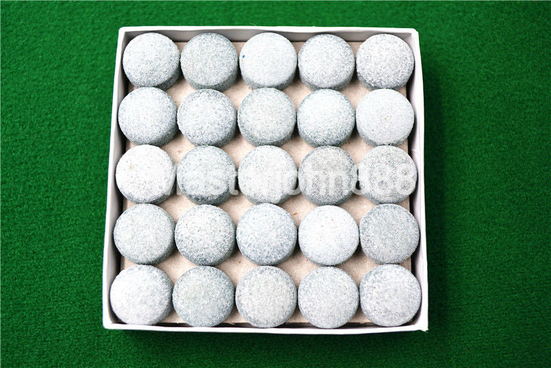 T 50pcs Glue-on Pool Billiards Snooker Cue Tips