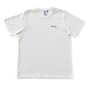Classic Hemp Tee - White with Blue logo