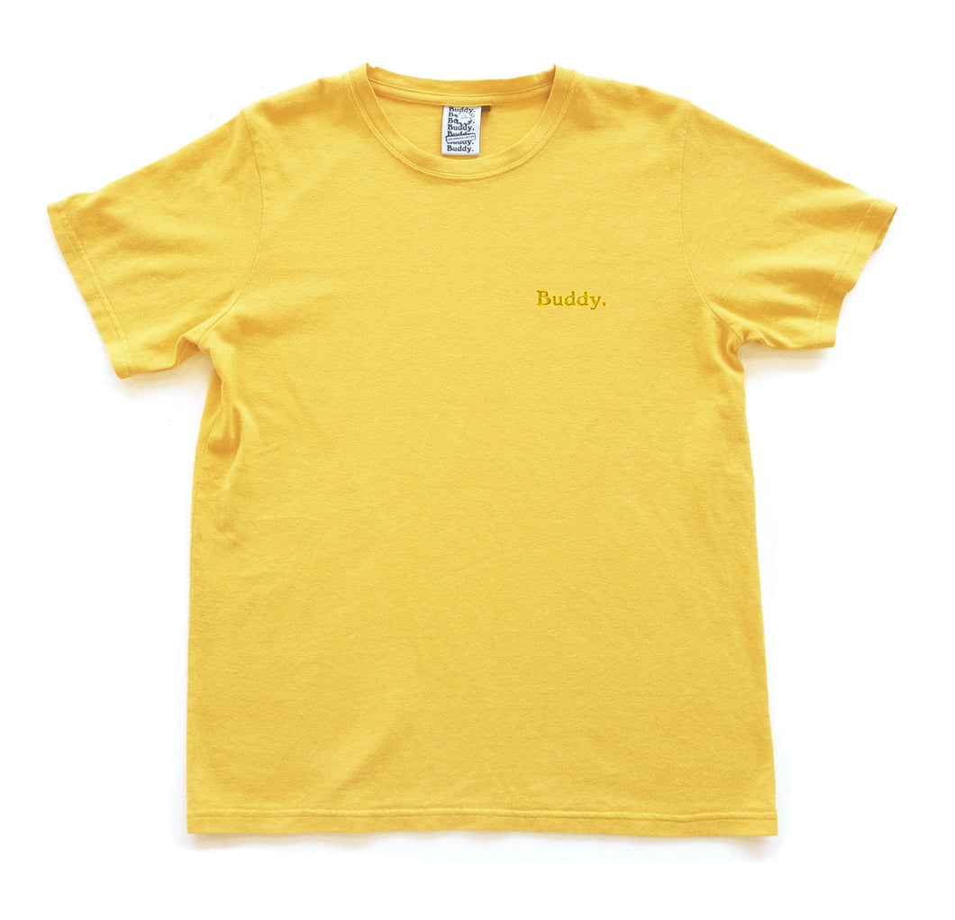 Classic Hemp Tee - Yellow with Yellow Logo