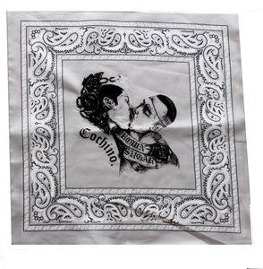 """Brown Sugar"" Bandana in Sand/Grey"