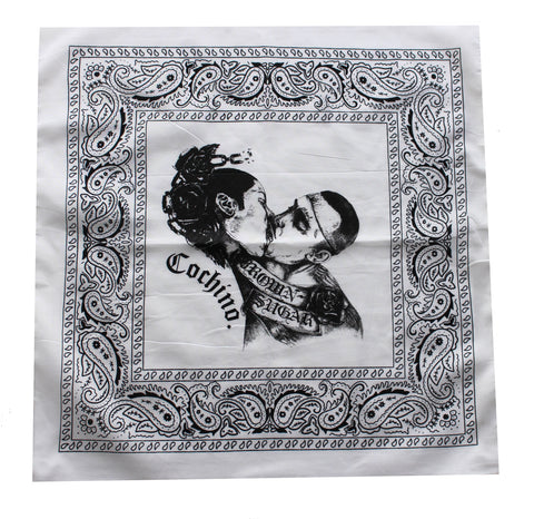 """Brown Sugar"" Bandana in White"