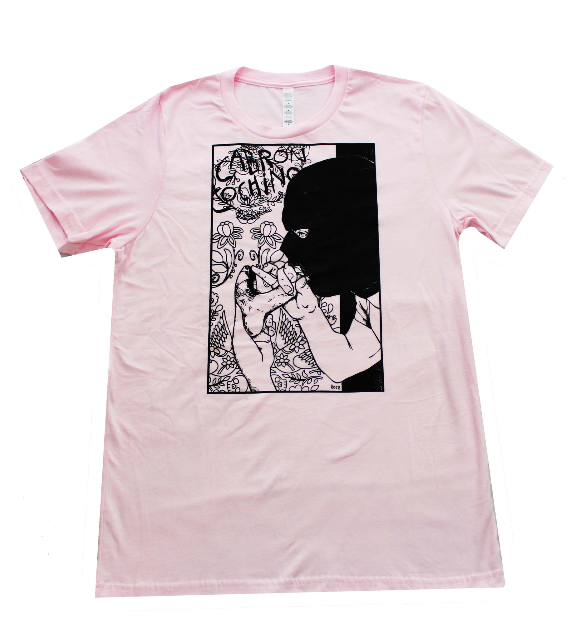 """Glory Hole"" Men's T-shirt in Manly Pink"