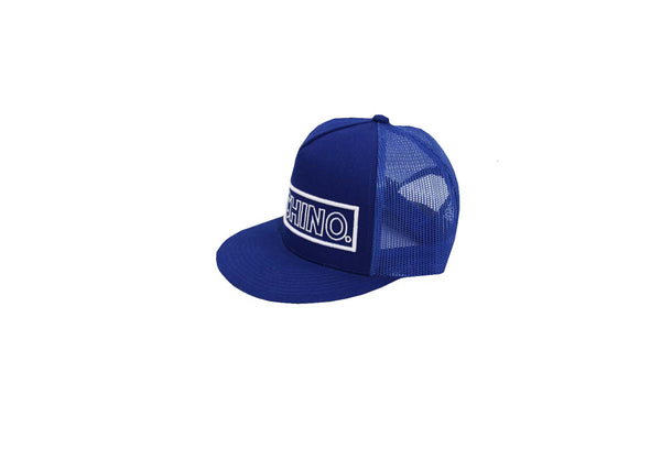 "Bright Blue Flat Brim Large Logo ""Cochino"" Hat"