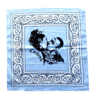 """Brown Sugar"" Bandana in Baby Blue"