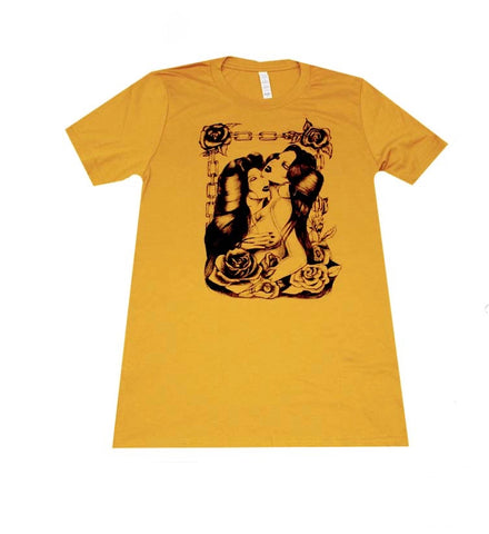"""Sweet Thing"" Men's T-shirt in Mustard"