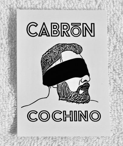 "Cabrón Cochino ""Blindfold"" Logo Sticker (2.5"" x 3.5"")"
