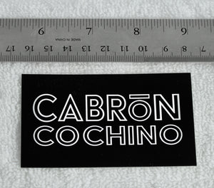 """Cabrón Cochino"" Logo Sticker (3.5"" x 2"")"