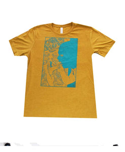 """Glory Hole"" Men's T-shirt in Mustard"