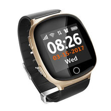 Load image into Gallery viewer, Fu&y Bill Elderly Heart rate monitor Smart Watch D100 fall-down alarm function GPS LBS WIFI Tracker for Apple Android phone