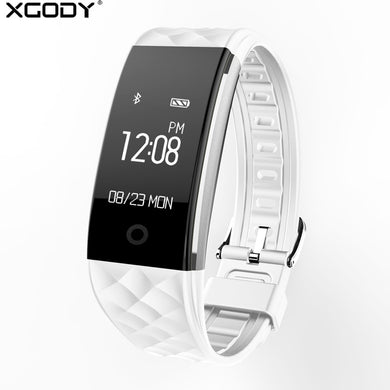 XGODY S2 Smart Bracelet Watch Waterproof IP67 Smartwatch with Heart Rate Monitor Remote Camera Sport Fitness Tracker Wristband