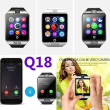 Load image into Gallery viewer, 2018 Top Fashion New Q18 Bluetooth Smart Watch Camera Support SIM Card For Android Smartphone fitness bracelet activity tracker