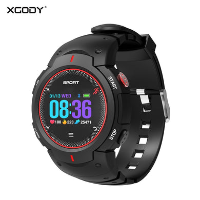 XGODY F13 Bluetooth Smart Watch Heart Rate Monitor Men IP68 Waterproof Android Digital Wrist Sport Wearable Devices for iphone