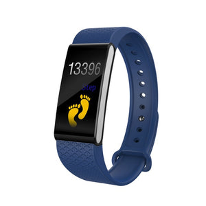 Smart Color Screen Blood Pressure Exercise Heart Rate Pedometer Smart Watch  Remote Camera Information Display Sports Pedometer