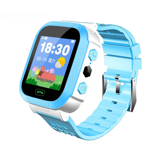 Smart Watch with GSM Locator Screen Tracker SOS for Kids Children EnglIsh Smartwatch Watches phone 2G SIM Fitness